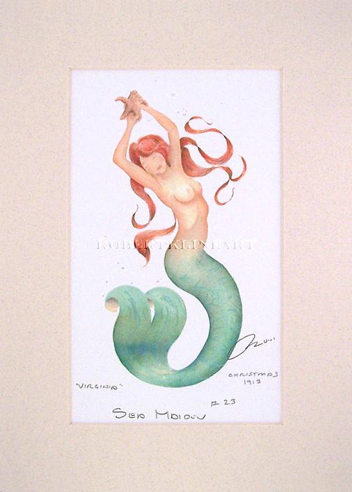 Mermaid Painting - Sea Maiden 23 Virginia by Robert Kline