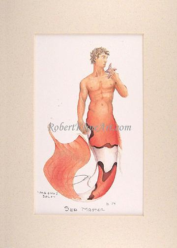 Merman Painting - Sea Master 14 Magnus Solo by Robert Kline