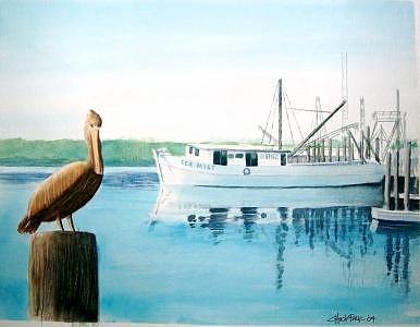 Seascape Painting - Sea Mist by Charles Falk Jr