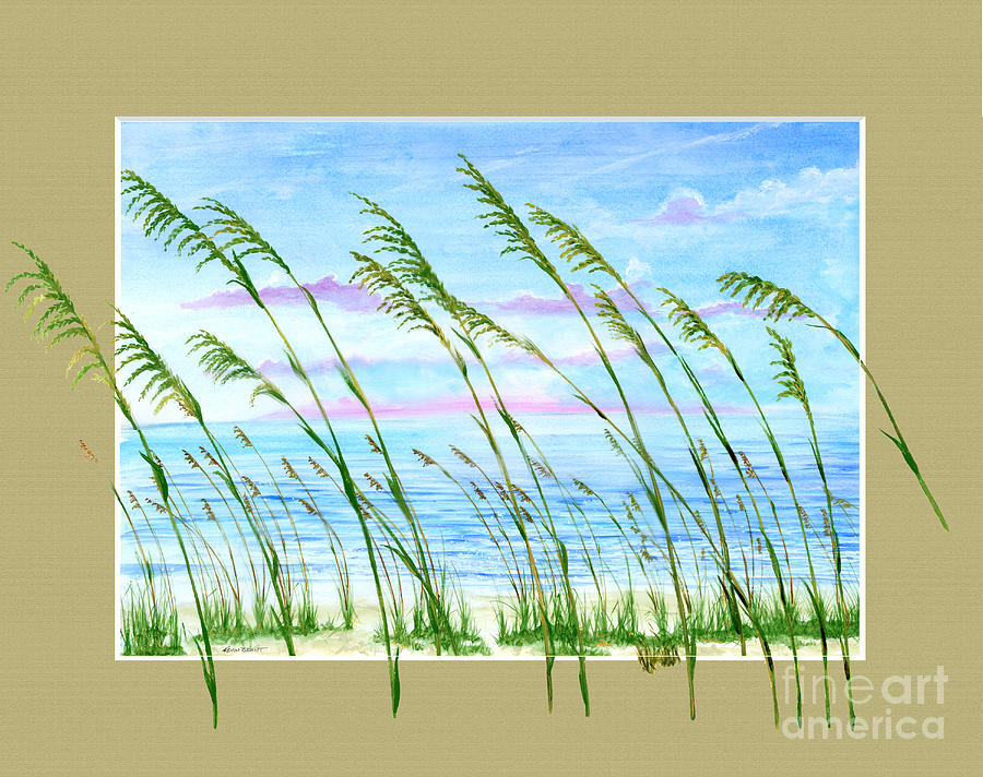 Sea Oats and Sea by KEVIN BRANT