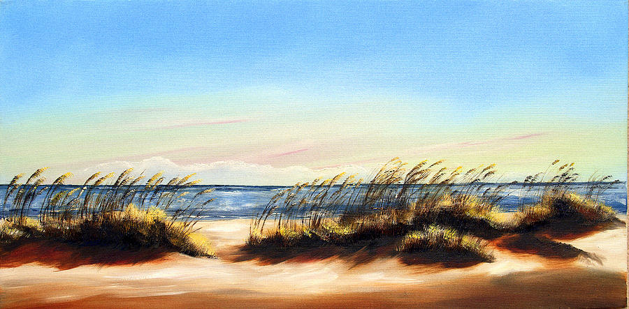 Beach Painting - Sea Oats by Michele Snell