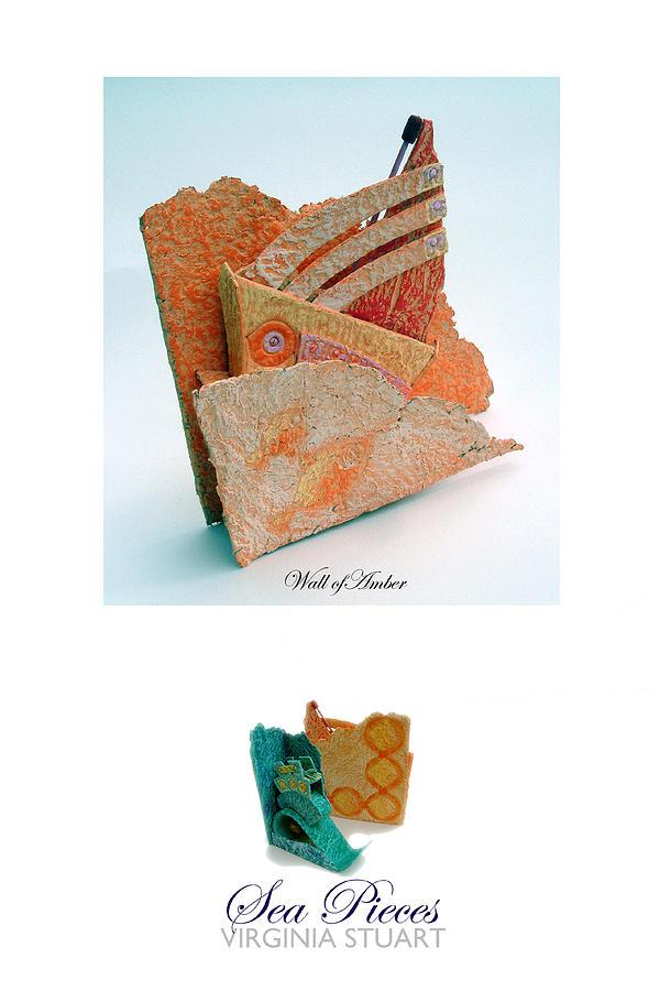 Sculpture Mixed Media - Sea Of Amber by Virginia Stuart
