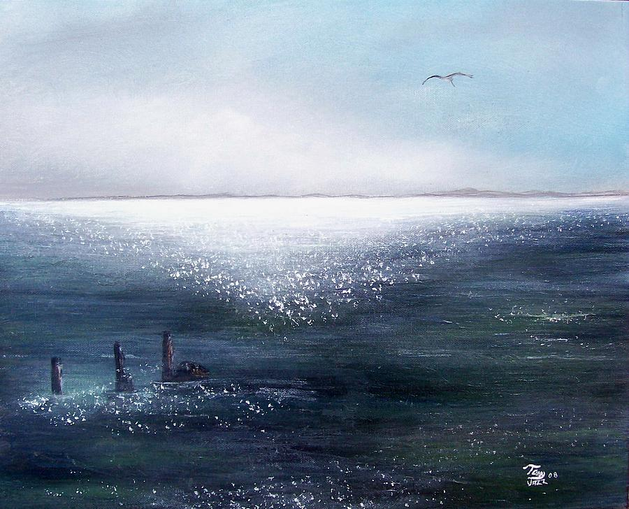 Seascape Painting - Sea Of  Glass by Tony Rodriguez