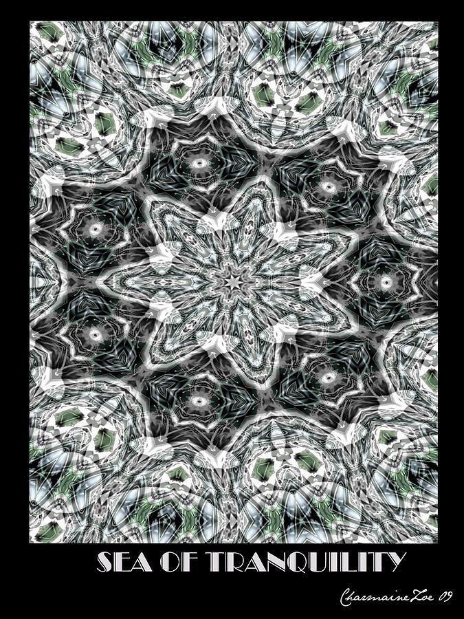 Kaleidoscope Digital Art - Sea Of Tranquility by Charmaine Zoe