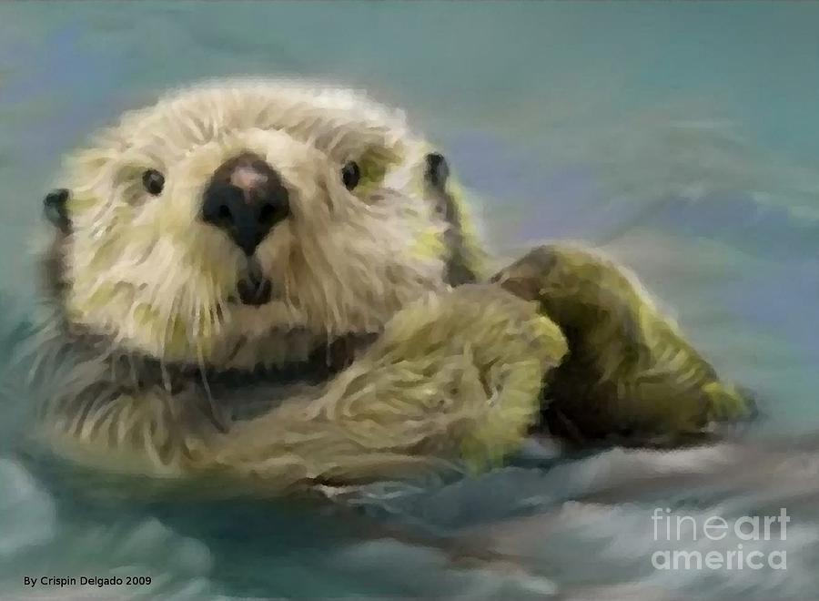 Sea Digital Art - Sea Otter by Crispin  Delgado