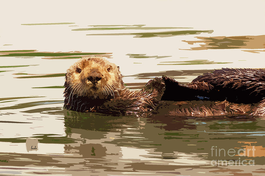 Sea Otter Digital Art - Sea Otter by Sharon Foelz