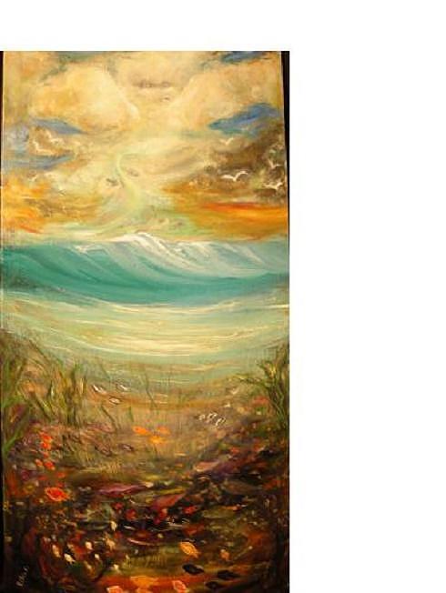 Sea Painting - Sea Saga by Eileen Anderson