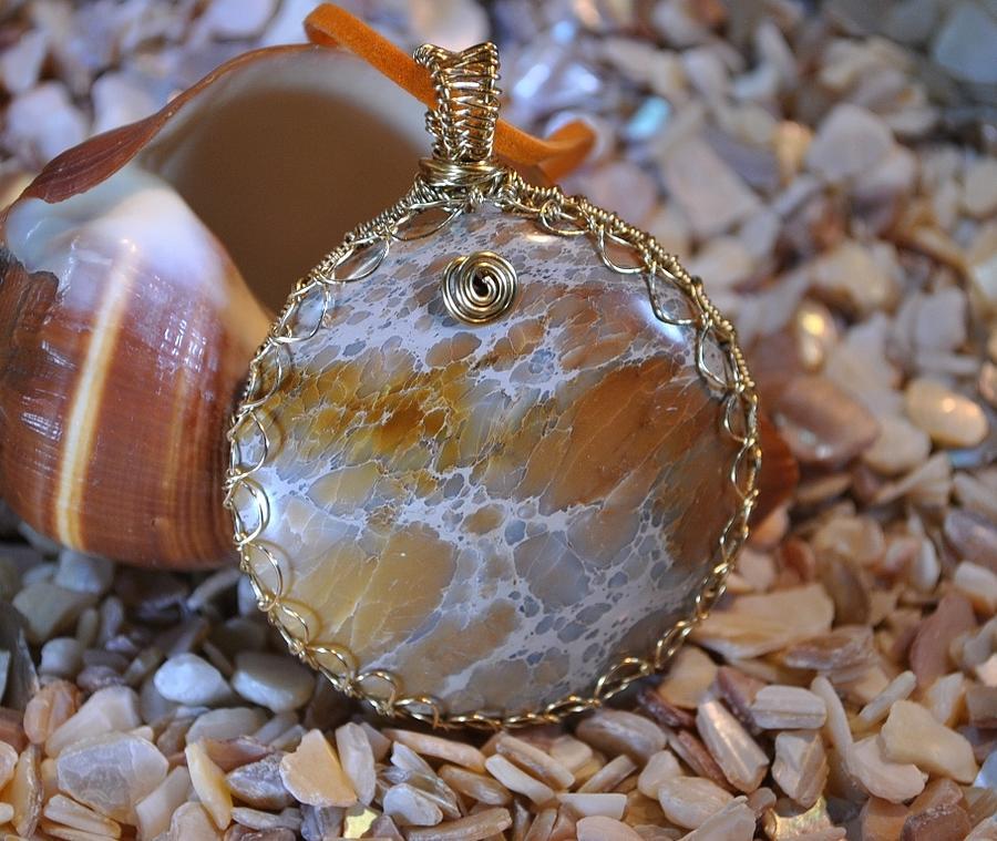 Stone Jewelry - Sea Sediment by Judy Wood