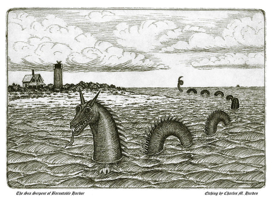 Sea Serpent of Barnstable Harbor by Charles Harden