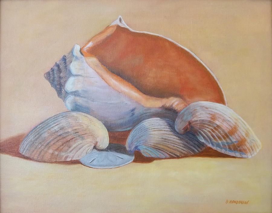 Shells Painting - Sea Shells by Betty Henderson