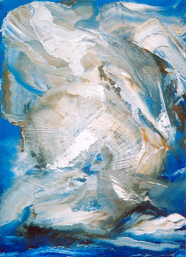 Abstract Painting - Sea Shells by M Diane Bonaparte