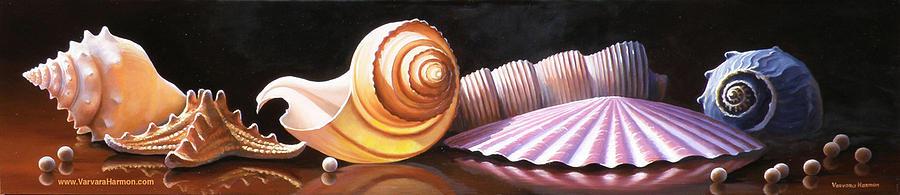 Sea Shells Painting - Sea Shells by Varvara Harmon