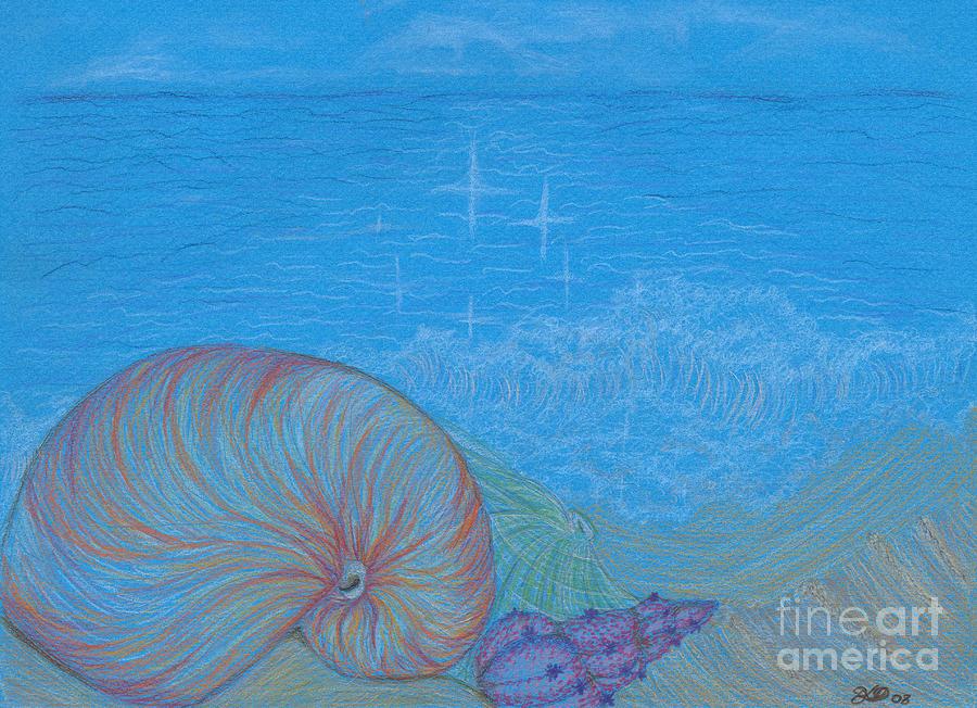 Sea Drawing - Sea Shore by Kim Sy Ok