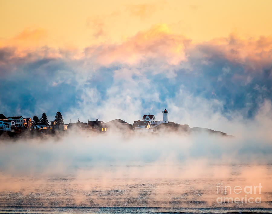 Sea Smoke at Nubble Light by Susan Cole Kelly