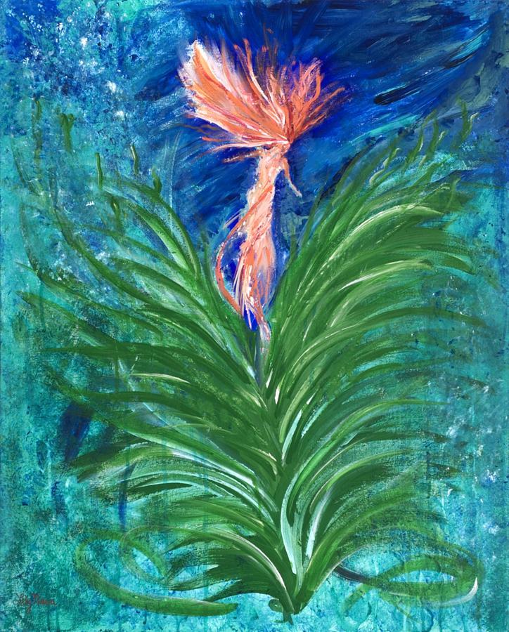 Mermaid Painting - Sea Spirit by Lily Nava-Nicholson