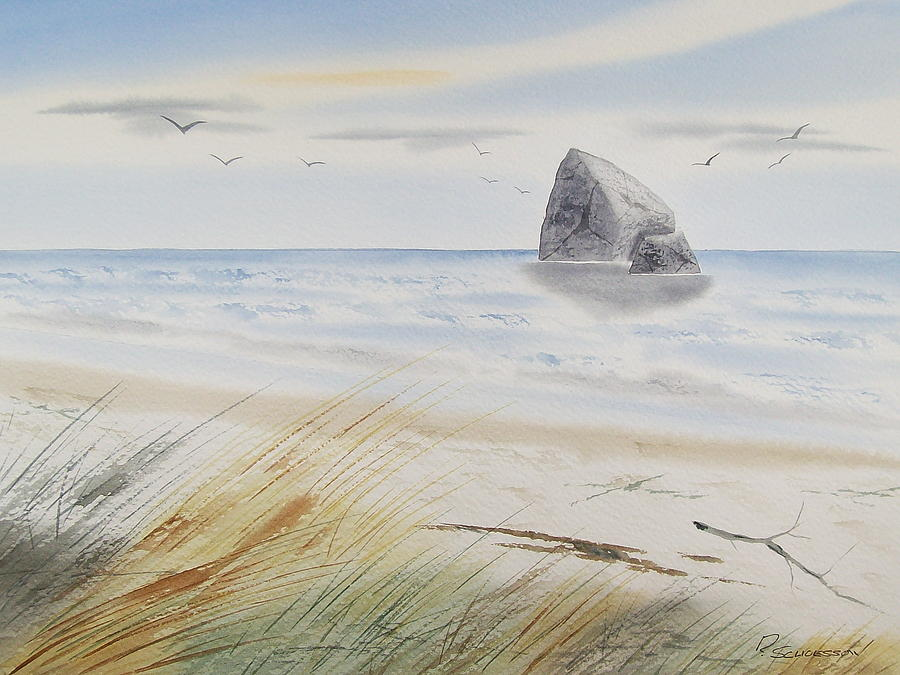 Seascape Painting - Sea Stack 3 by Richard Schoessow