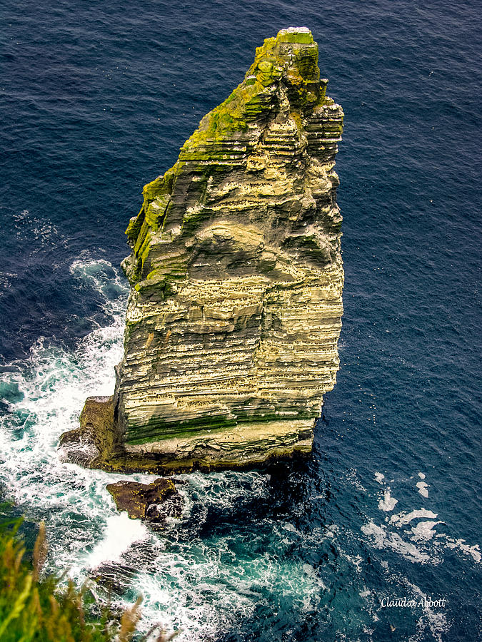 Sea Stack Cliffs of Moher, Northern Ireland by Claudia Abbott