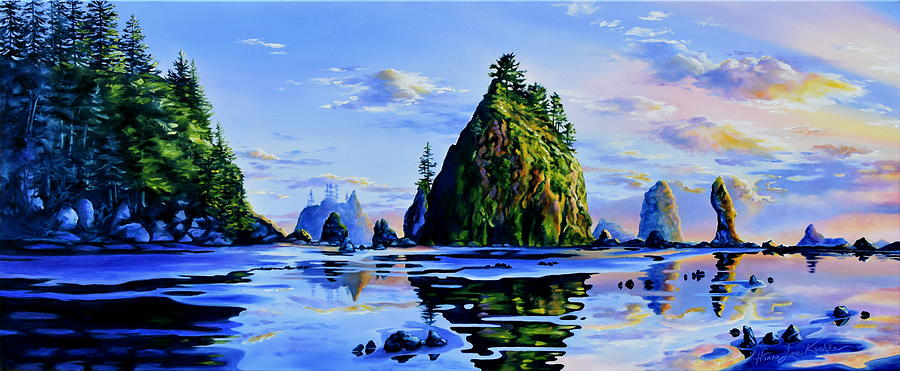 Sea Stack Serenity Painting