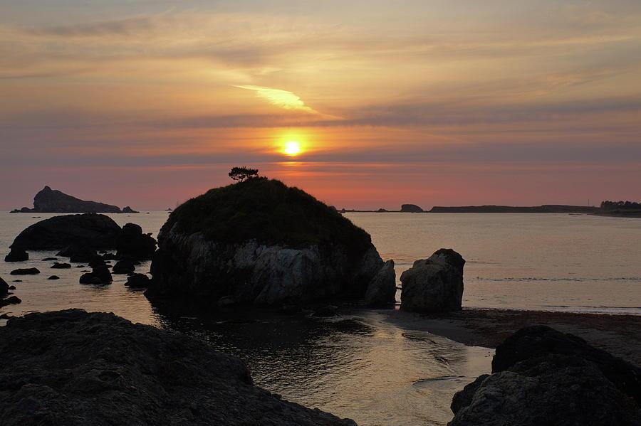 Sea Stack Sunset by Harold Rau