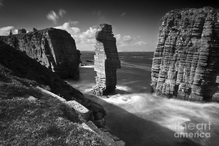 Sinclair Photograph - Sea Stacks At Castle Sinclair Girnigoe by Roddy Atkinson