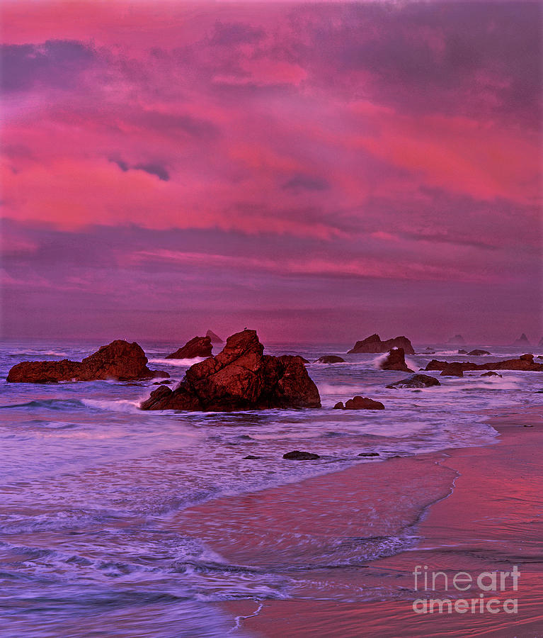 sea stacks harris state beach oregon by Dave Welling