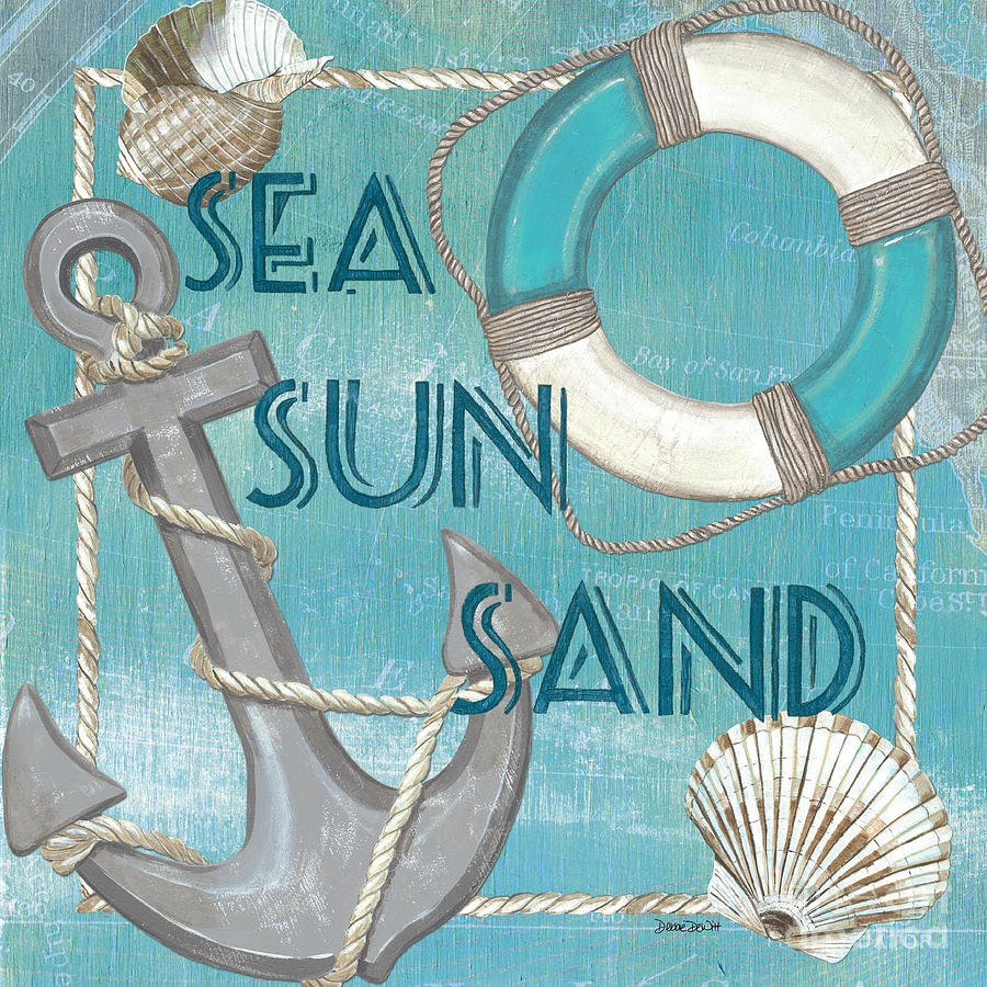 Sun Painting - Sea Sun Sand by Debbie DeWitt