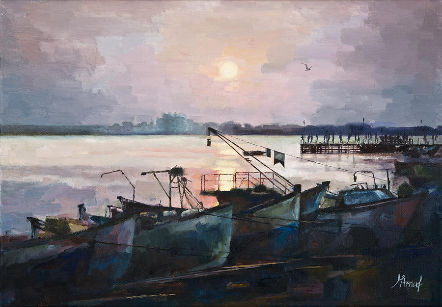 Sea Sunset by Maria Arnaudova