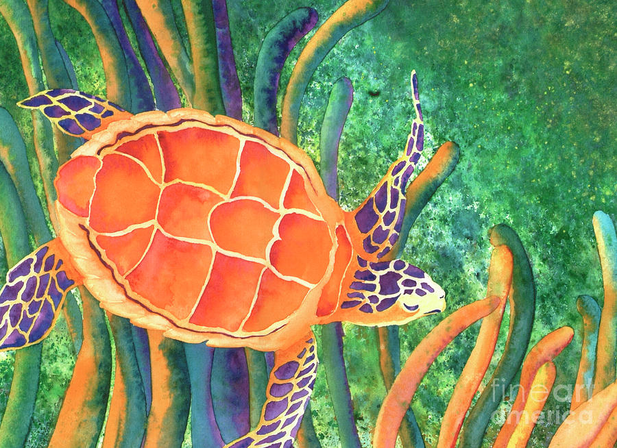 Seaturtle Painting - Sea The Beauty by Tracy L Teeter