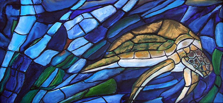 Sea Turtle Painting - Sea Turtle I by David McGhee