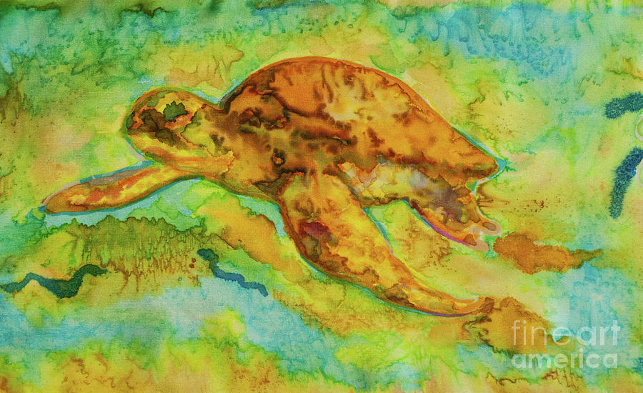 Sea Turtle Tapestry - Textile - Sea Turtle by Jacqueline Phillips-Weatherly