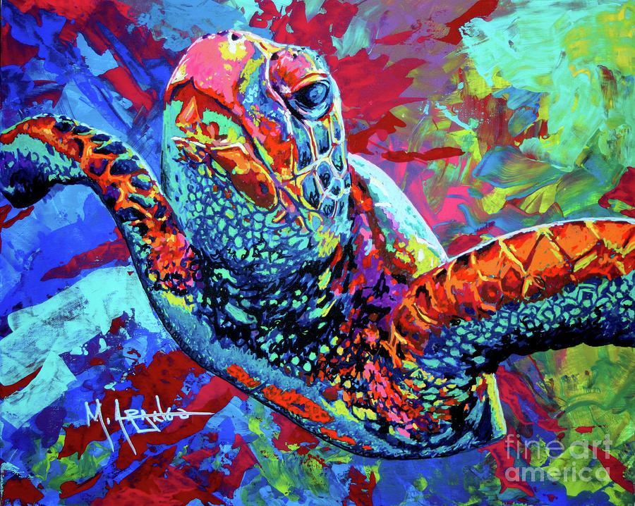 Sea Turtle Painting - Sea Turtle by Maria Arango