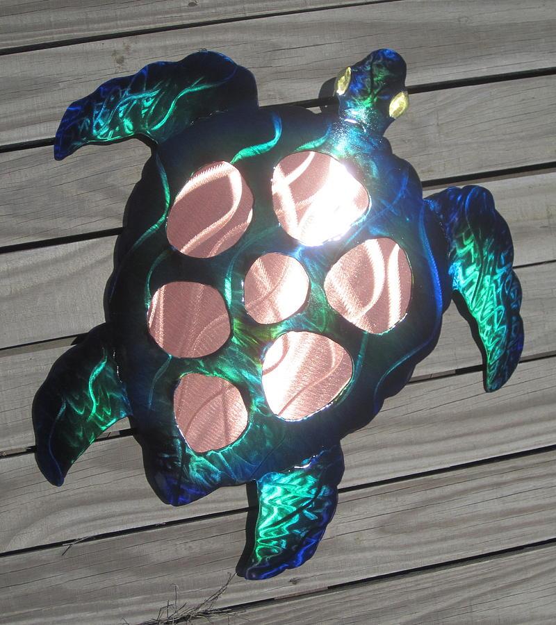 Brand new Sea Turtle Metal Wall Art Sculpture by Robert Blackwell AN82