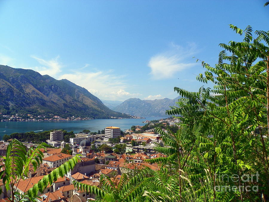 Adriatic Sea Photograph - Sea View From Kotor by Elizabeth Fontaine-Barr