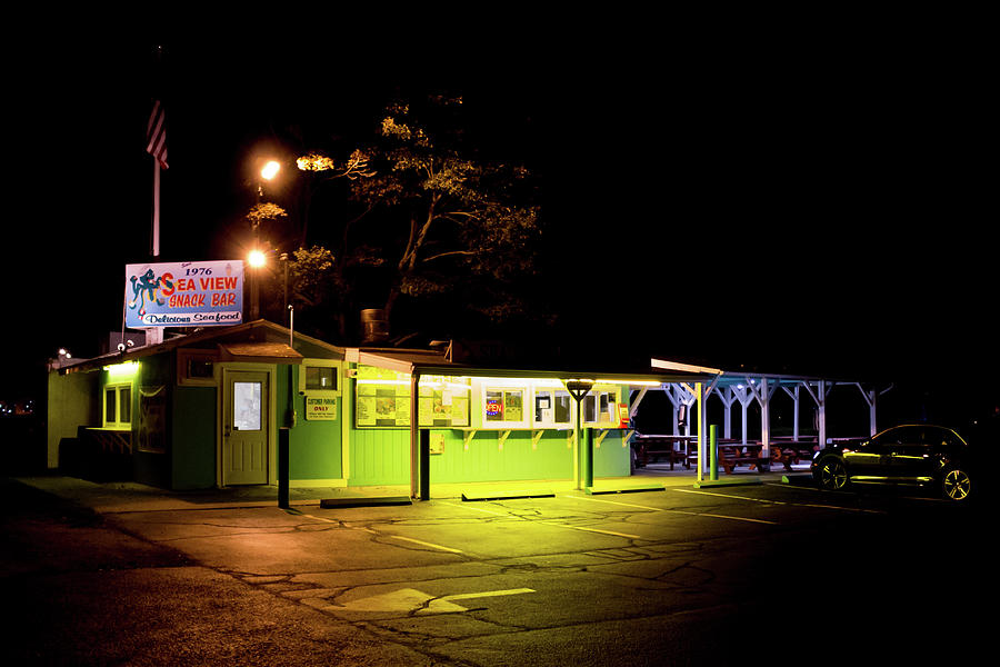 Sea View Snack Bar - Mystic Ct Photograph