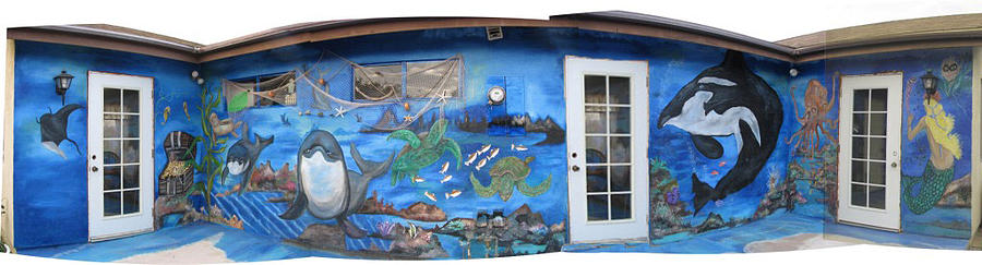 Mural Painting - Sea Wall by Mikki Alhart