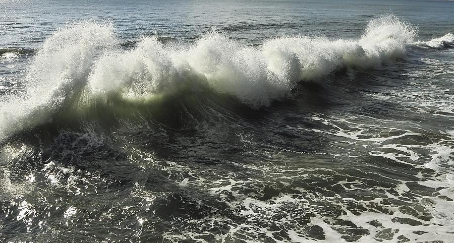 Aqua Photograph - Sea Waves1 by Svetlana Sewell