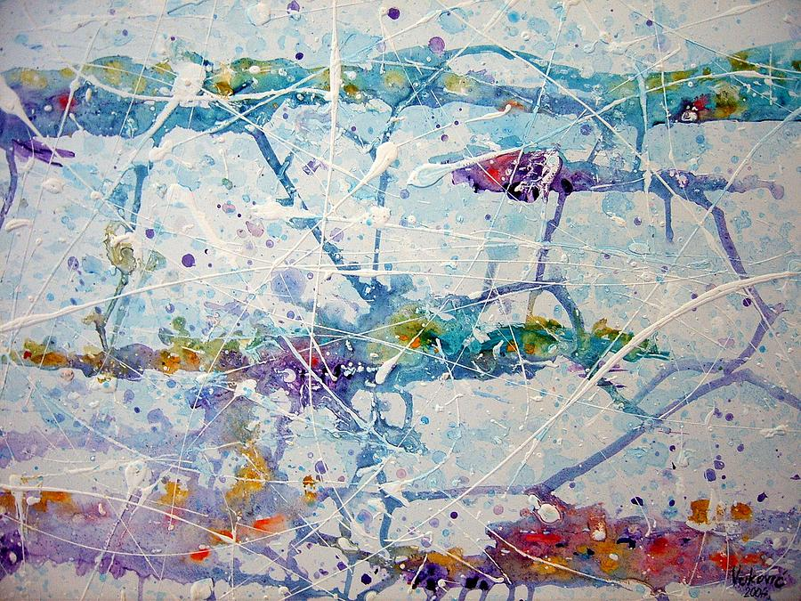 Abstract Painting - Sea Ways by Vukovic  Davor