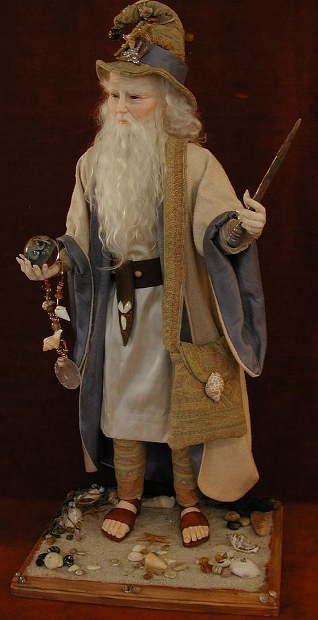 Fantasy Sculpture - Sea Wizard by Bonnie Jones