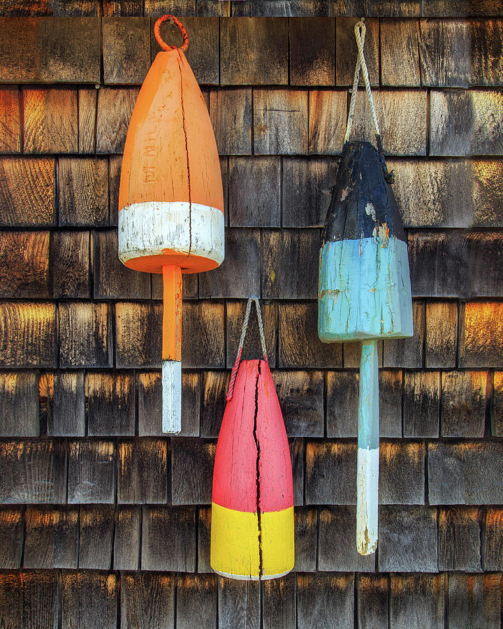 Sea Worn Buoys by John Vose
