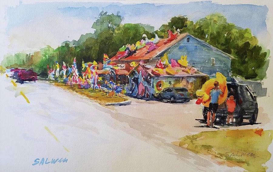 Massachusetts Painting - Seaberry Surf Gifts, Wellfleet by Peter Salwen