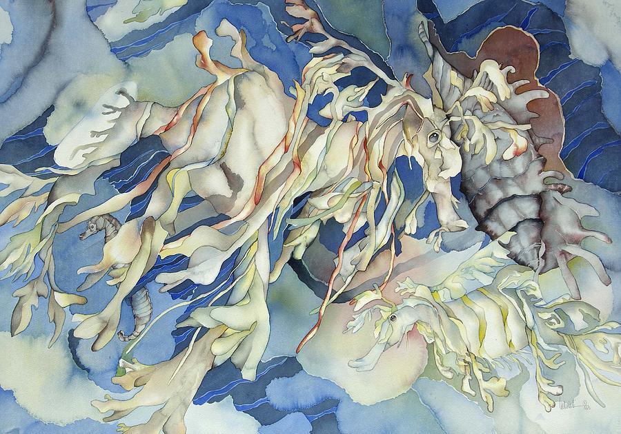 Sealife Painting - Seadragon Fantasy by Liduine Bekman