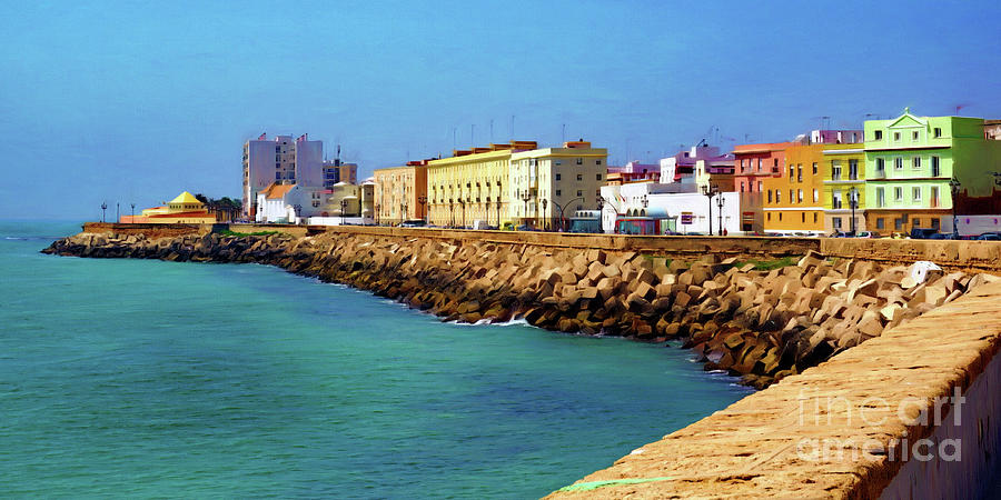 Seafront Promenade in Cadiz by Sue Melvin