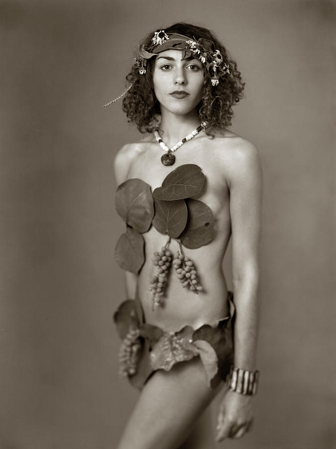 Sea Grapes Photograph - Beach Girl by Audrey Christopher Bunn