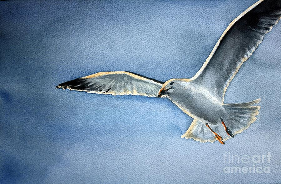 Seagull Painting - Seagull by Eleonora Perlic