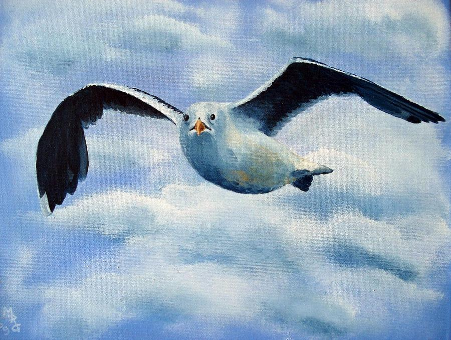 How To Paint Seagulls In Wood Flying