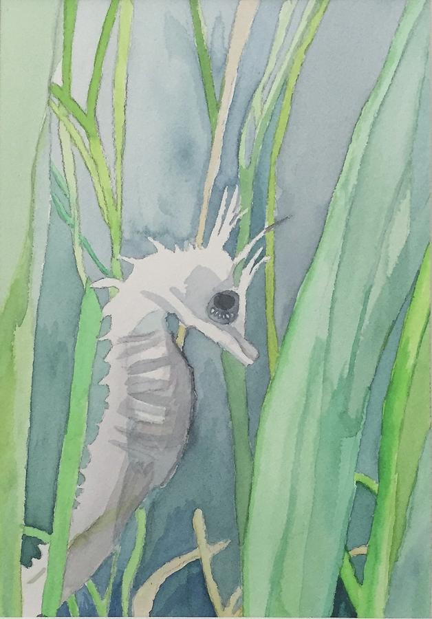 Sea Painting - Seahorse by Alice Singer