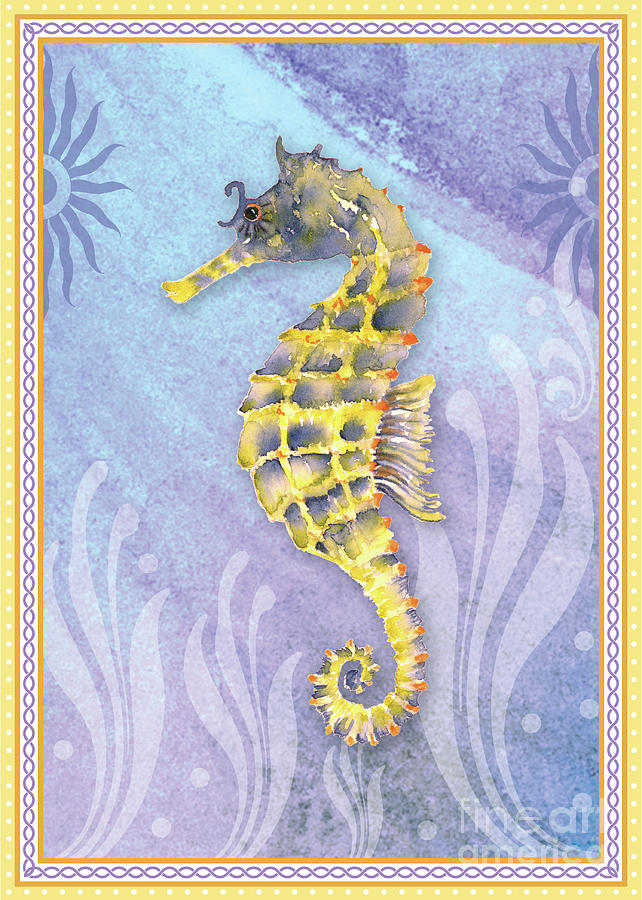 Seahorse Blue Painting
