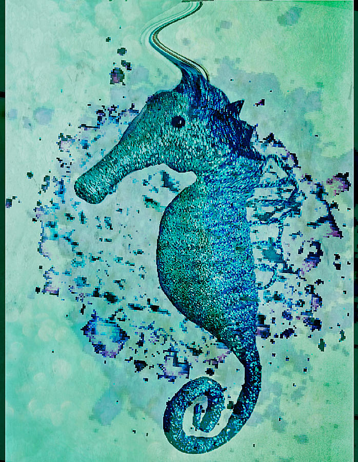 SEAHORSE GLITTERATI by Pamela Smale Williams