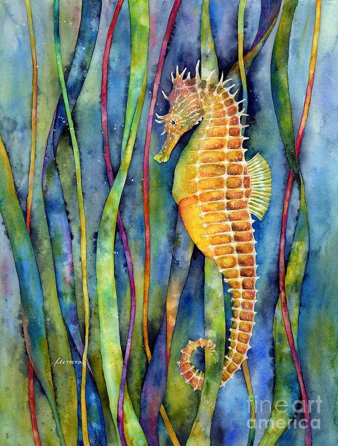 Seahorse Painting By Hailey E Herrera