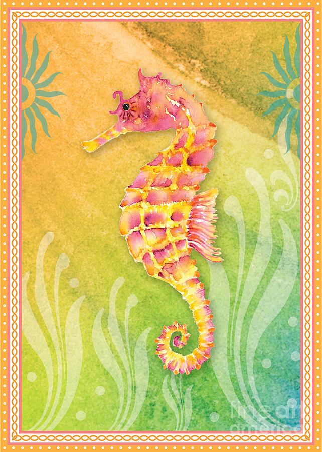 Seahorse Pink Painting